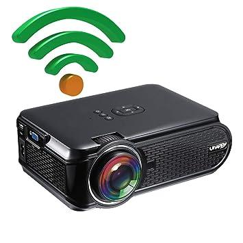 FSM88 Proyector portátil WiFi, Compatible con proyector de Cine en ...