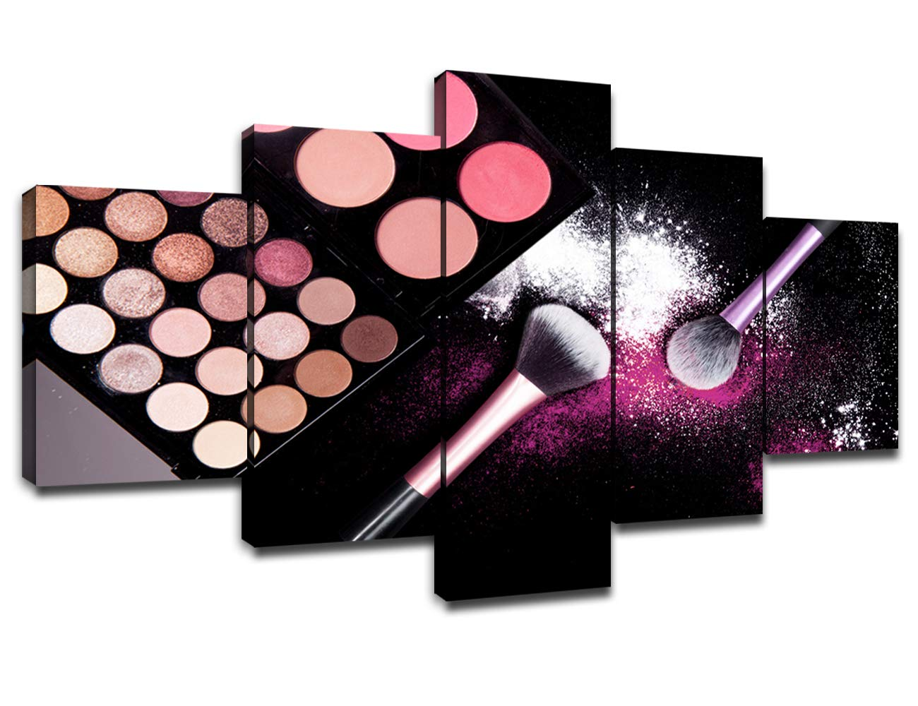Makeup Wall Art Canvas Colorful Eye Shadow Palettes Picture for