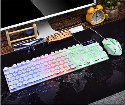 YPJKHM Juego de teclado y ratón, resistente al agua, punk ...