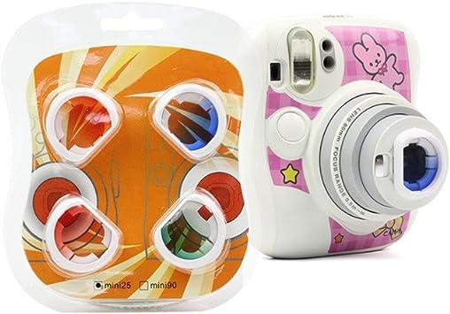 Color de Moda Lente Close-up filtro establecido para Fujifilm Instax Mini 25 Cámara