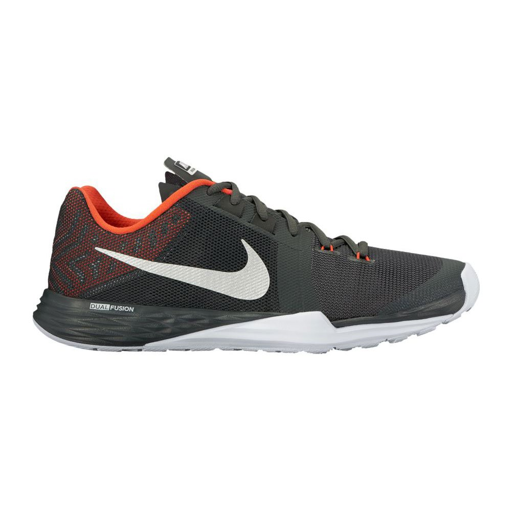 NIKE Men's Train Prime Iron DF Cross Trainer Shoes B00JCUN24A 12.5 D(M) US|Anthracite/Metallic Silver/Max Orange
