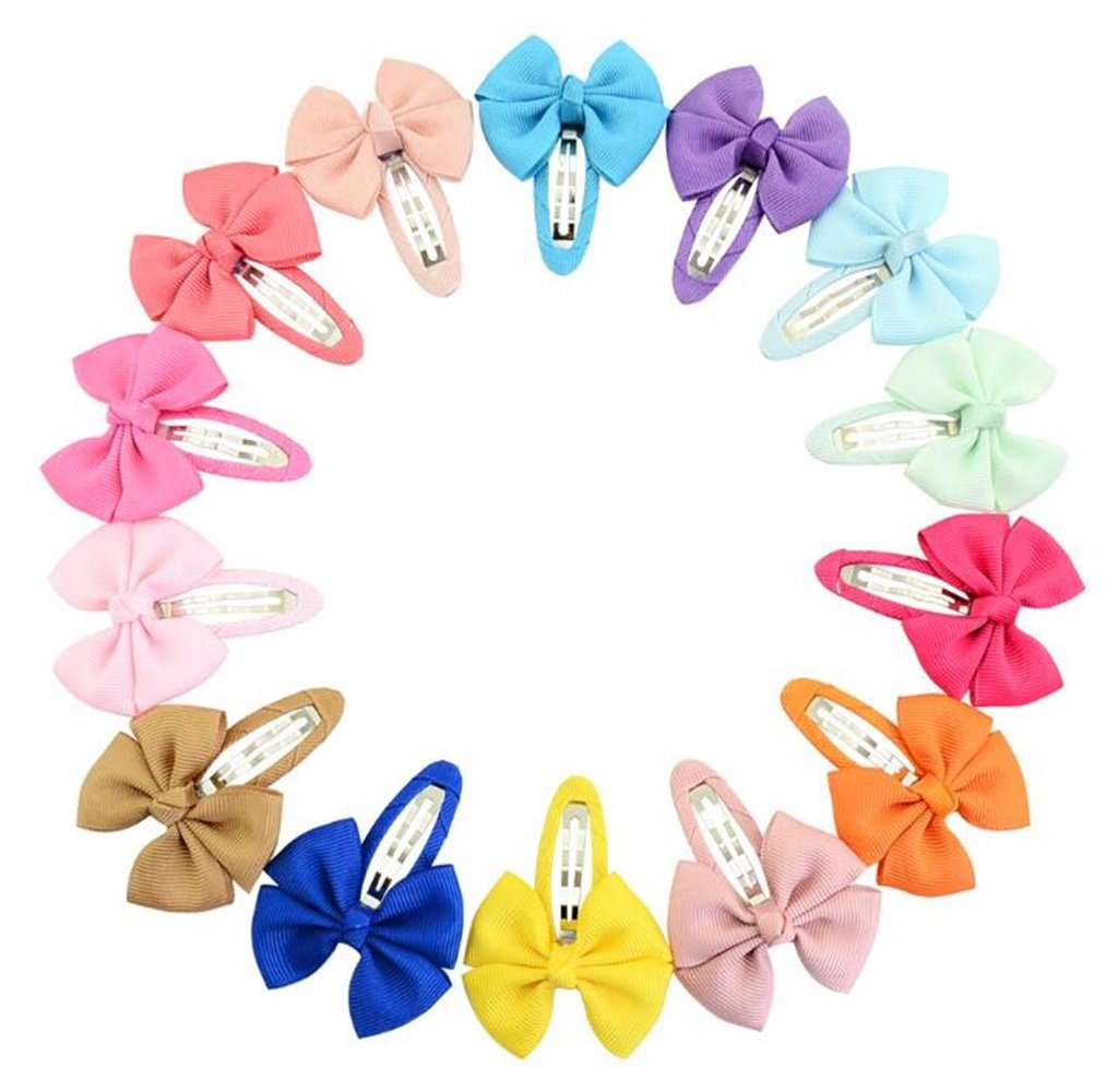 Fashion Jewellery Accessory 20PCS Infant Hairpin Fashion Girls Hair Bows Clips Cute Barrettes