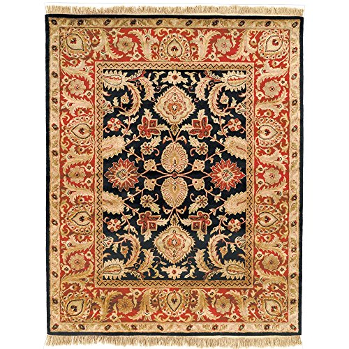 "Safavieh Classic Collection CL244C Handmade Traditional Oriental Black and Burgundy Wool Area Rug (8'3"" x 11') -  CL244C-9"