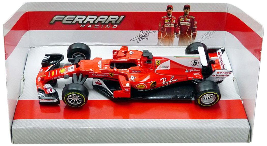 Bburago 36805V # 5Ferrari sf70-h F1–Vettel–2017–Escala 1/43, Rojo 36805V #5