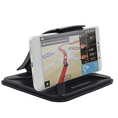 AONKEY Cell Phone Holder for Car, Dashboard Anti-Slip Vehicle GPS Car Mount Universal for All Smartphones, Compatible iPhone XR XS Max X 8 7 6S Plus, Galaxy S10/S9 Plus S8 Note 9/8, LG V30, Pixel 3 XL [5Bkhe1509873]