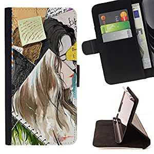Jordan Colourful Shop - FOR Samsung Galaxy S6 - Time is a bird - Leather Case Absorci¨®n cubierta de la caja de alto impacto