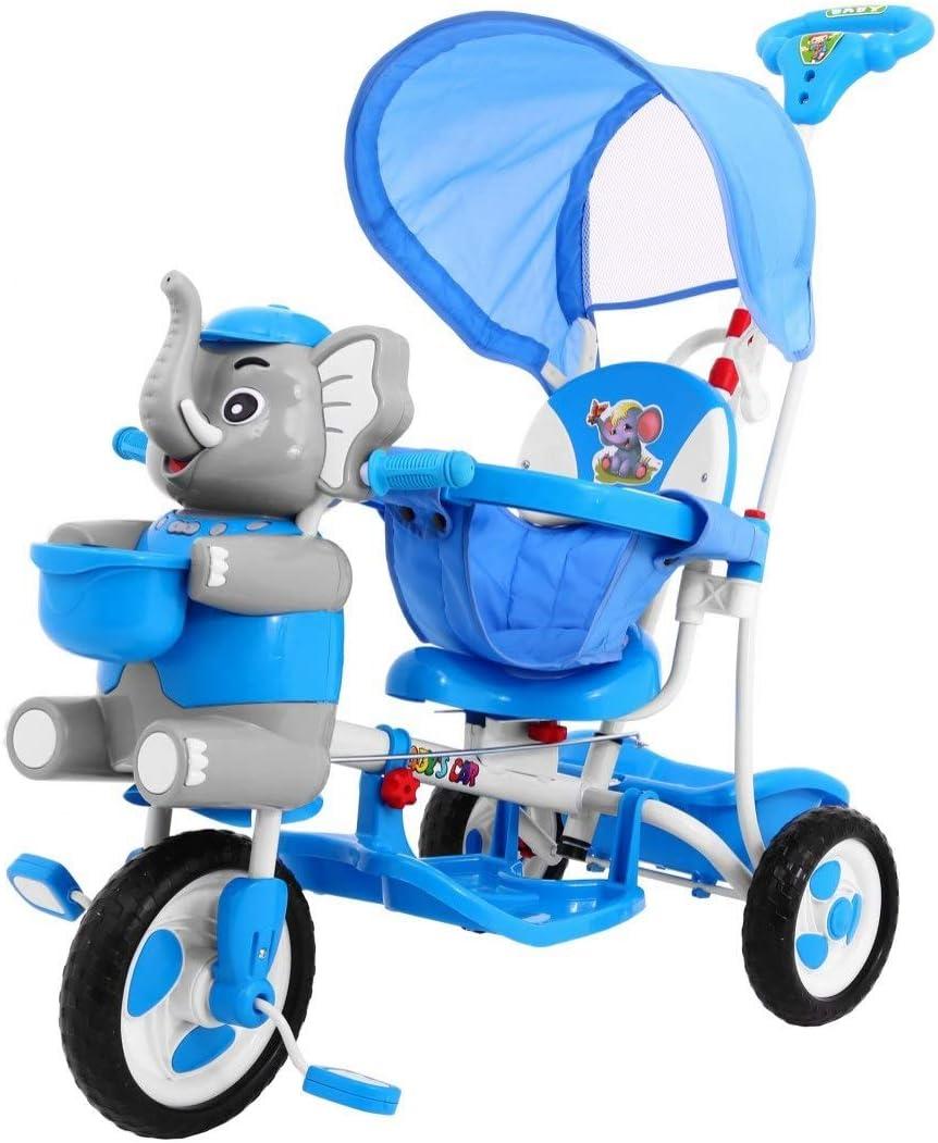 Triciclo Infantil - Trike Bicicleta para Niño, Triciclo para Niños, Triciclo para Bebé - Elephant - Azul
