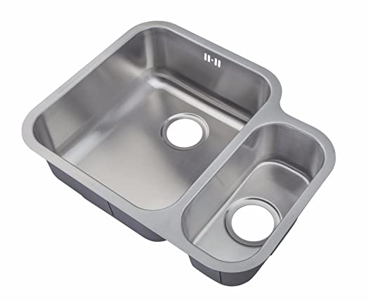 Kitchen Sinks Under Counter Mount 1.5 Bowl Satin Finish (D12L ...