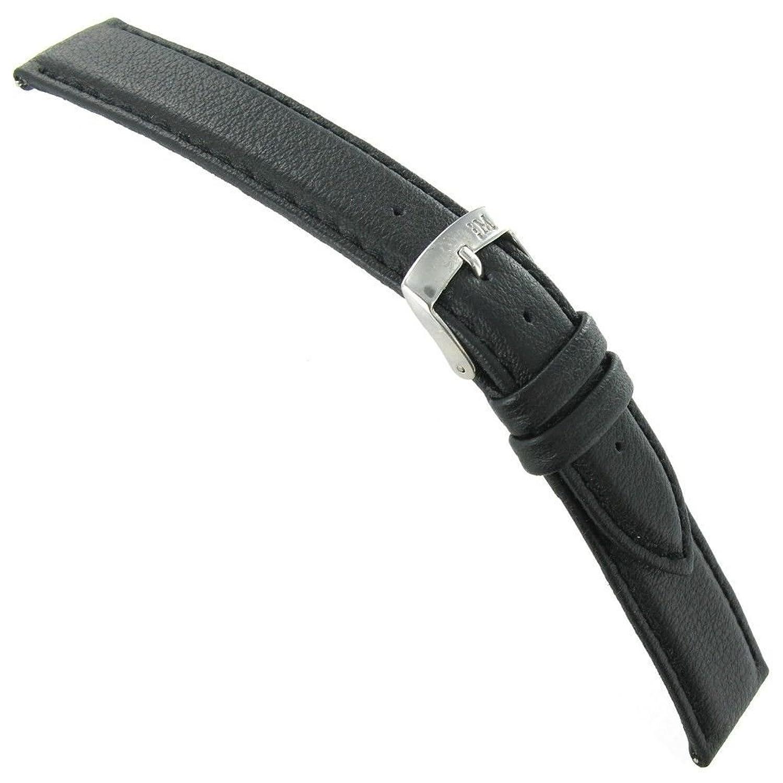 18 mm Morellato LoricaブラックGenuine Italian Leather EZピンステッチ腕時計バンド  B01KKOCK8U