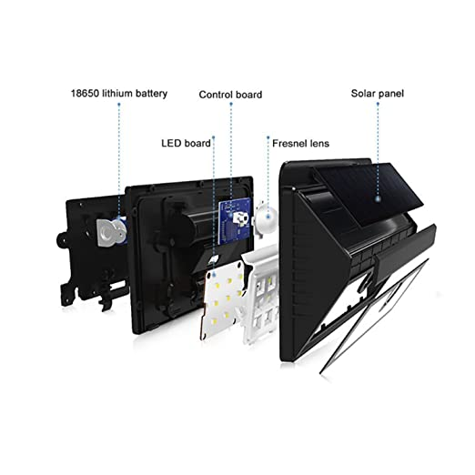 [actualización versión] 3 modos funciona con energía solar luces, 20 LEDs Seguridad inalámbrica Sensor de movimiento luces de pared, ...