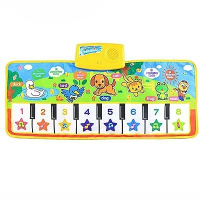 Jouets pour bébé,Fulltime®Touch jeu Musical musique de clavier chant tapis de Gym 73cm X 35cm