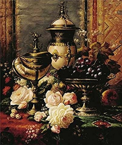 High Quality Polyster Canvas ,the Best Price Art Decorative Canvas Prints Of Oil Painting 'Classical Still Life With Flowers And Fruits', 8x10 Inch / 20x24 Cm Is Best For Hallway Artwork And Home Decor And - Alfred Gockel Flowers