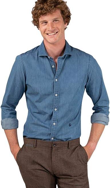 El Ganso Urban INTERSEASON Camisa casual, Azul (Denim 0012), Medium para Hombre: Amazon.es: Ropa y accesorios