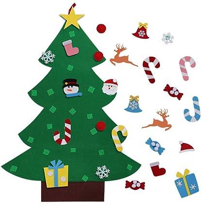 Christmas Tree Toys Handmade.3ft Diy Handmade Felt Christmas Tree Set With 26 Detachable Ornaments Toys New Year Xmas Gifts For Kids Children Door Wall Hanging Decor