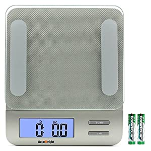 AccuWeight Digital Kitchen Multifunction Food Scale for Cooking with Large Back-lit LCD Display,Easy to Clean with Precision Measuring,Tempered Glass