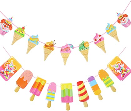 Donuts Party decoration Summer bunting Summer Ice cream Bunting Ice cream party