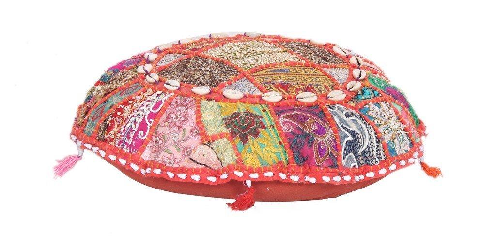 Ethnic Pouf Ottoman Round Indian Floor Boho Pillow Decor Pouffe Foot Stool Jaipur Textile Hub