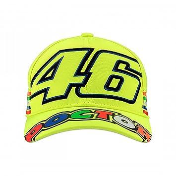 Valentino Rossi VR46 Moto GP The Doctor Stripes Amarillo Niños Gorra Oficial  2018 392df81cb4d