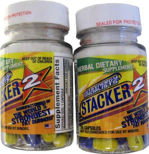 Stacker 2 FAT BURNER éphédra (2) 20CT. BOUTEILLES