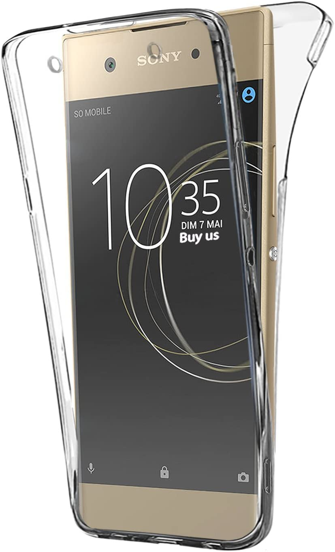Buyus Funda Full Body Sony Xperia XA1, Transparente Silicona 360 ...