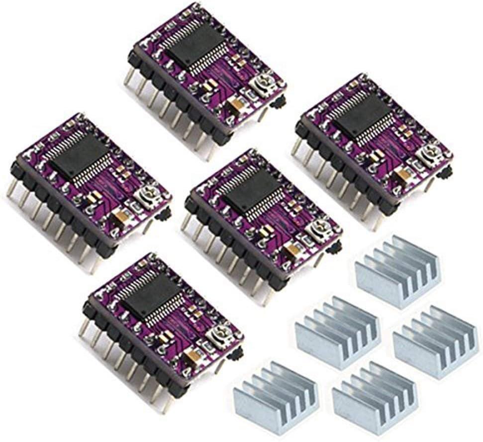 ARCELI 5pcs DRV8825 Stepper Motor Driver Module para Impresora 3D RepRap 4 RAMPS1.4 StepStick