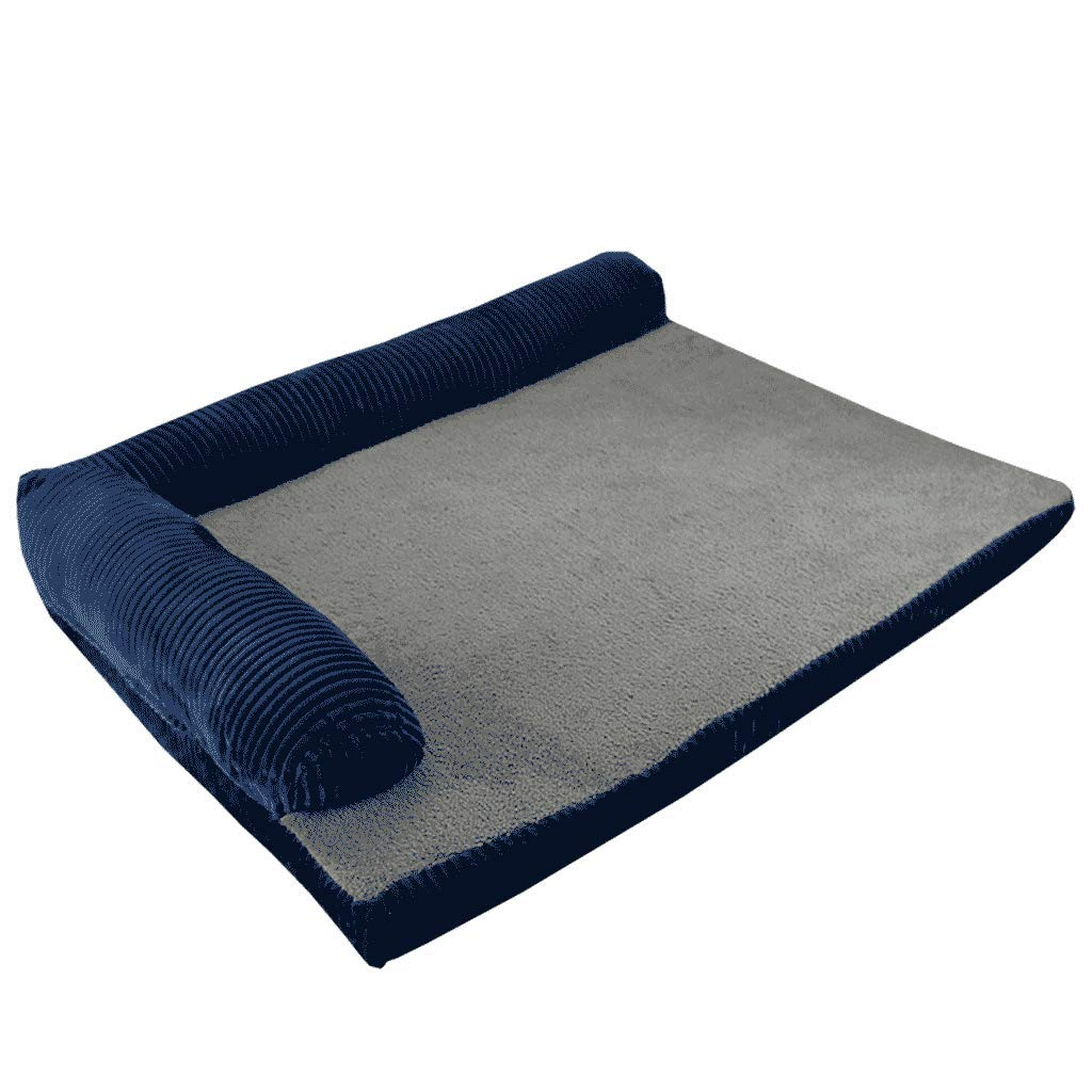 L FJH golden Retriever Kennel Removable And Washable Bite Dog Mat Medium Large Dog Thickening Pet Nest Teddy Kennel Large Mat (Size   L)