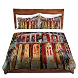 DiaNoche Designs Karen Tarlton Unique Home Decor Bedding Ideas New Orleans French Quarter Cover, 4 King Duvet Only 88'' x 104''