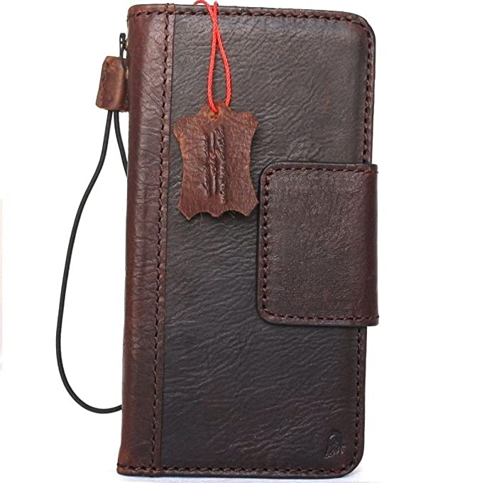 sale retailer 716ad c2b77 Genuine Leather Case for Samsung Galaxy Note 8 Book Wallet magnetic closure  cover brown Handmade Retro Luxury cards slots Daviscase