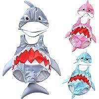 QinMMROPA bañador de con Forma de tiburón para niño bebé, Trajes de baño Gorra de baño bañador pañal bañador Body de…