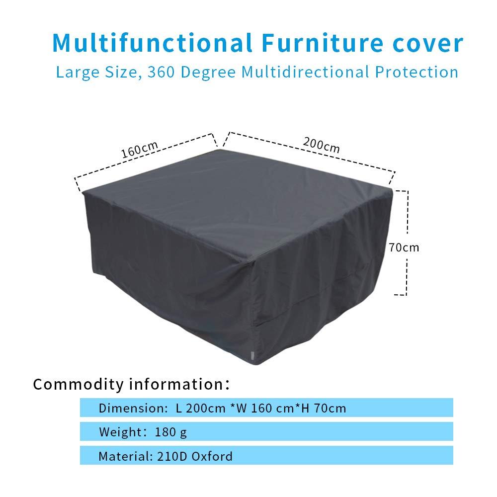 para la Mesa y Silla Exterior 120 * 75cm Utiliza en el jard/ín o Patio Fundas Muebles al Aire Libre Bolerton Funda Mesa Jard/ín Impermeable