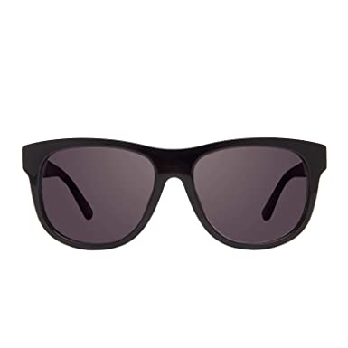 1a75fd915 Amazon.com: DIFF Eyewear - Milo - Designer Square Sunglasses for Men & Women  - 100% UVA/UVB Protection (Black + Solid Grey Gradient Lens): Clothing