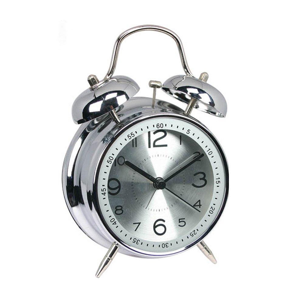 Sveglia da comodino Hemara 10,2cm, sveglia al quarzo analogica a doppia campanella, con allarme ad alto volume e luce notturna Blue 2cm Alarm Clock