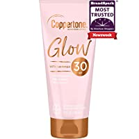 Coppertone Glow Hydrating Sunscreen Lotion with Illuminating Shimmer Minerals and Broad Spectrum SPF 30, Water-Resistant, Fast-drying, Free of Parabens, PABA, Phthalates, Oxybenzone, Whie, 5 Oz