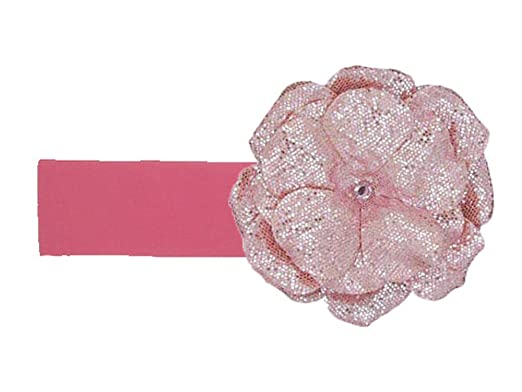 bc2b9b55e31 Jamie Rae Hats- Candy Pink Soft Headband with Sequins Pale Pink Rose ...