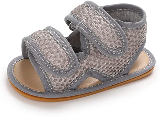 Gray Baby Boy Sandals 0-6 Months Infant