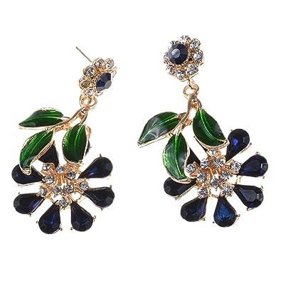 4a7607d15 Mosichi New Style Ethnic Rhinestone Bee Insect Tassel Dangle Hook Earrings  Statement Women Jewelry - Black