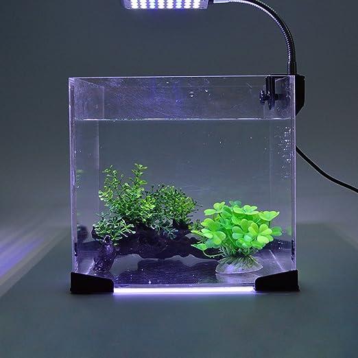 Glighone Luz de Acuario Lámpara de Acuarios y Peceras LED 3W Lámpara para Plantas y Estanques