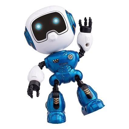 Amazon Com Yikou Mini Robot Kids Mini Robot Toy Metal Smart Robot