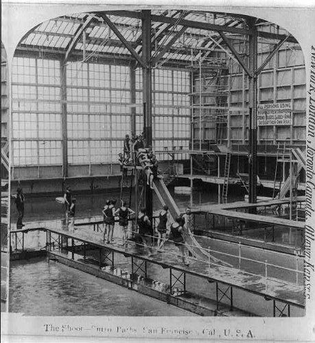 (Photo: The shoot,Sutro Baths,San Francico,California,CA,c1898,Swimming,Bathing Suits)