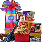 Art of Appreciation Gift Baskets Happy Birthday Surprise Gourmet Food and Snacks Gift Tower