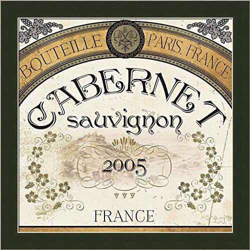 Wine Labels I Pela Studio French Cabernet Sauvignon Art Print Framed Picture Wall Décor (French Cabernet Sauvignon Labels)