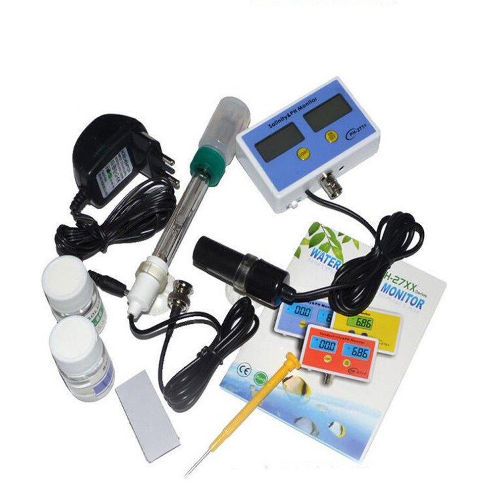 110V Aquarium Electronic Salinity Ph Value on-line Meter Monitor 2 Probe NIB by duojin (Image #1)