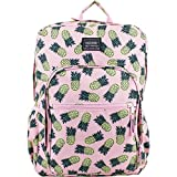 School Backpack. This Cute Student Large Rucksack, Haversack Bag Is For Kids, Teens & Adults. Best To Carry Books, Lunch Box, Pencil Case, Bottle, Cinch Sack, All School & Study Supplies. Pinapple