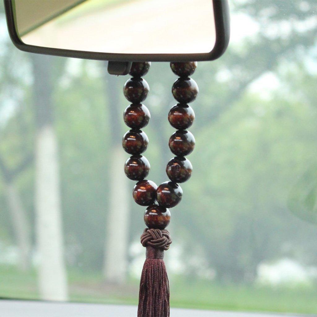 Yaonow Bois Bouddha 21/Perles de voiture R/étroviseur int/érieur /à suspendre Pendentif D/écor Ornement