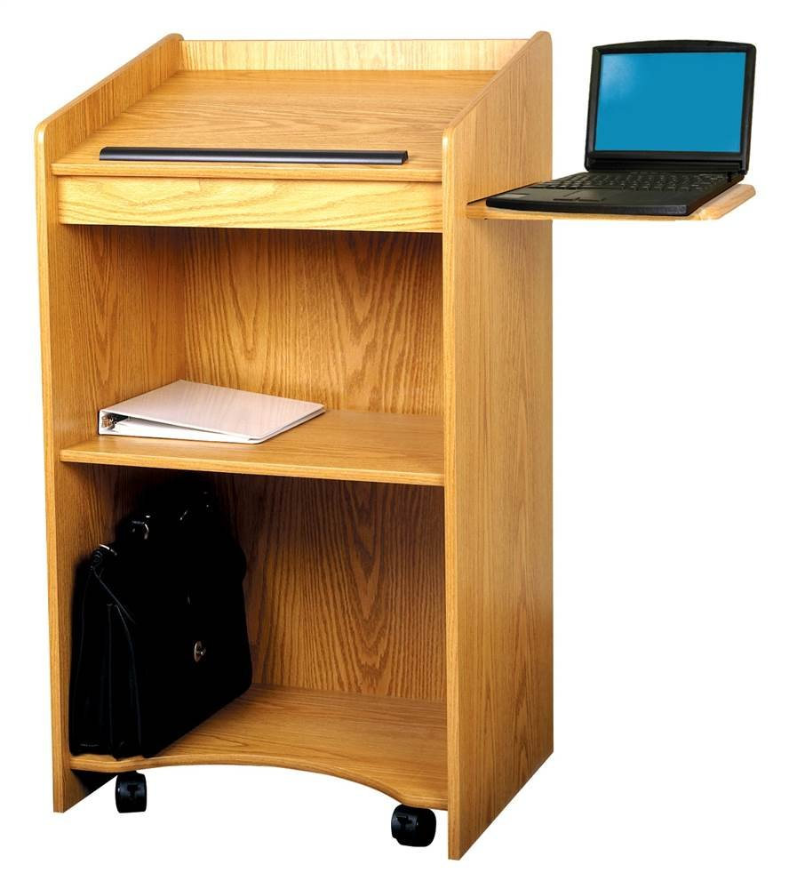 Floor Lectern with Pull Out Shelf (Cherry)