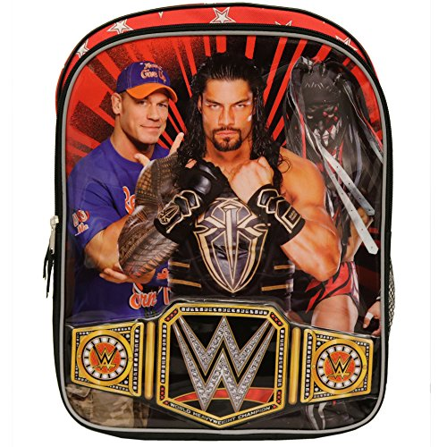 2018 WWE 16 inch Backpack with Side Mesh Pockets (Has Main Drawstring Compartment)