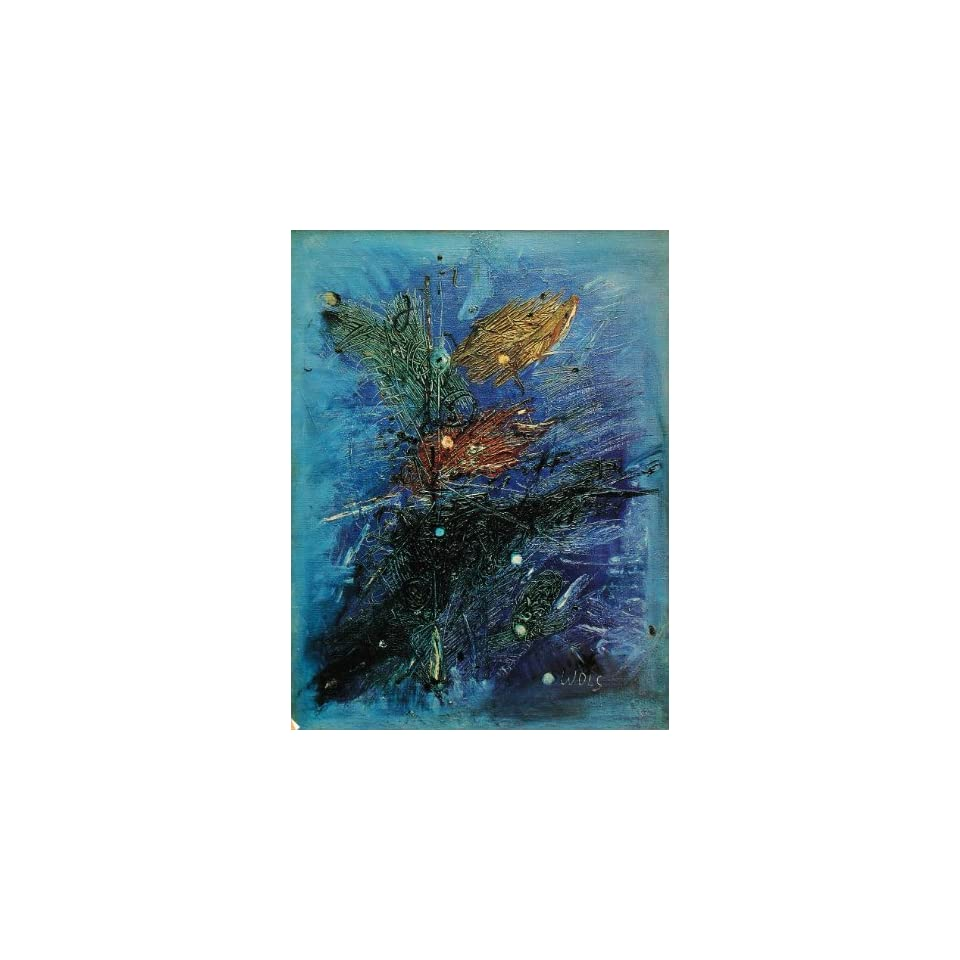1970 Pop Abstract Modern Art Wols Les Voyelles Print   Original Print