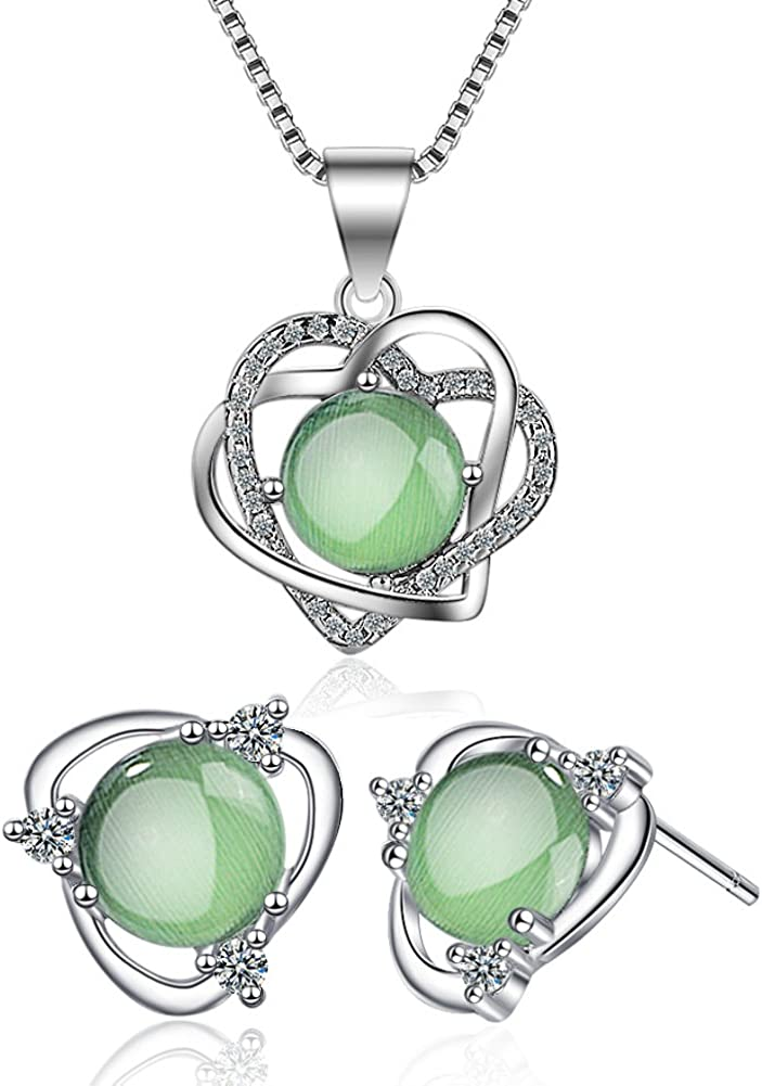 55Carat White Cubic Zircon Unique Heart Pendants Round Shape Gemstone Silver Handmade Necklace Jewelry