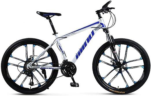 LISI Bicicleta de montaña para Adultos 26 Pulgadas 30 velocidades una Rueda Todoterreno Amortiguador de Hombres y Mujeres Bicicleta Bicicleta,Blue: Amazon.es: Hogar
