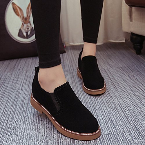GAOLIM Lazy People Thick Winter Spring Shoes Women Increased Within A Short And Thick Shoes Student Shoes Shoes BlackB 5gCjt5kp